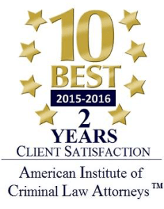 American Institute of Criminal Law Attorneys Best Awards Logo
