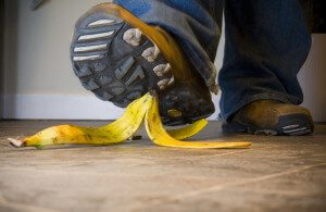 Slipping on a banana