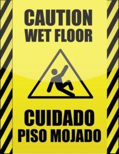 Slip & Fall Sign