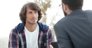 Two Guys talking